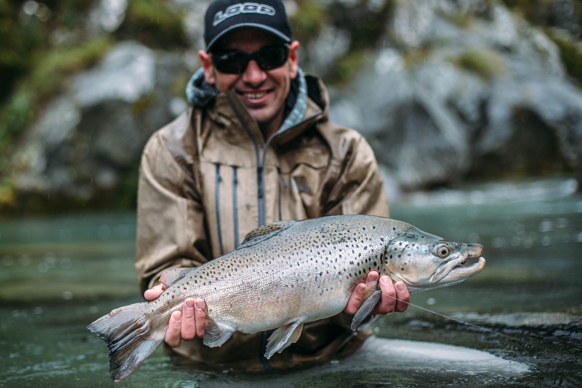 Trav with a thumper South Island brownie.